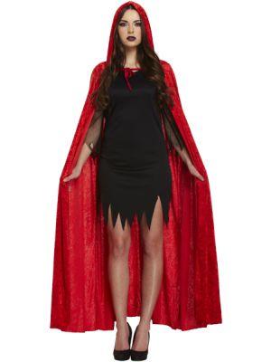 Adult Red Velvet Devil Cape Best Dressed V38 683