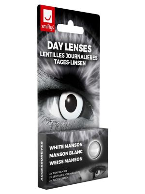White Manson Contact Lenses 1 Day