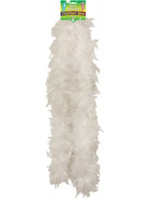 Feather Boa White 150cm U07091