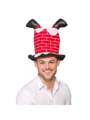 Santa Stuck in Chimney Hat Wicked XM-4611